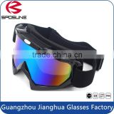 Top quality spherical dual unbreakable cross sports goggles manufacturers wholesale rainbow coating motocross anti-UV eyewear
