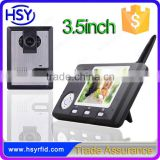 Itercom System Smart Home Door Bell 3.5inch Indoor Monitor COMS Outdoor Camera Wireless Video Door Phone Kit