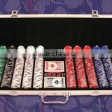 New arrival! 1000pcs poker chip case,aluminum poker set in metal case,trolley poker case                                                                         Quality Choice