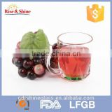 Transparent colorful mug cup and baby cup with handle for coffee water beer juice