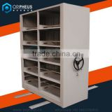 High School mobile file book Shelves Double side movable manual operation shelving systems metal book shelf in the library