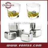 Stainless Steel Reusable Ice Cubes, single packing, set gift box packing,Great for whiskey, red wine and white wine