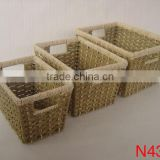 SET OF 3 MAIZE & SEAGRASS BOOKS BASNKET,basket