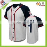 Blank dye sublimation custom baseball jersey Sublimation full button baseball jersey wholesale