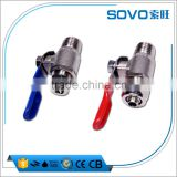 "1/2"" to 3/8"" metal ball valve for RO system(part of ro water purifier ) / Hydraulic Ball Valve/ metal Valve switch"