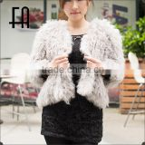 Factory price wholesale fashion lady's lamb knit fur jacket /lamb fur jacket