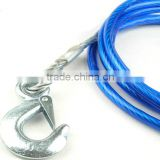 steel wire tow rope for car /trailer rope /Plastic coated steel wire rope