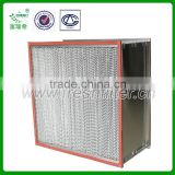 Heat-resistance Deep-pleated high efficiency filter HEPA filter for oven equipment(manufacturer)