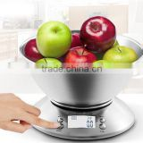 11lb/5kg Electronic Kitchen scale Digital Kitchen scale with Alarm Timer & Temperature Sensor