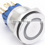 CE ROHS Hyperplane ring led 25mm electrically powered vehicle/car pushbutton switch