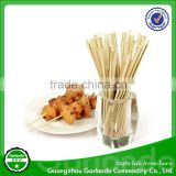 eco-friendly polished round bamboo bbq skewer for BBQ with sharp point (3.0*200mm,2.5*200mm)