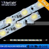 Edgelight 3535 LED aluminium profile led strip , 9 leds super bright with lens , CE/ROHS/UL listed bar light LED strip                                                                                         Most Popular