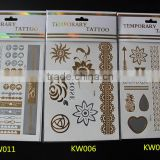 2015 arabic tattoos/metallic tattoo ink tattoo/flash tattoo/jewelry temporary tattoo in stock