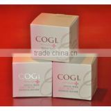 Custom printed cosmetic packaging paper box & white cream cosmetics packaging paper box