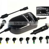 Hot selling 80W Universal auto DC car power regulated adaptor for all Notebook Computer