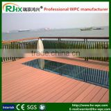 WPC crack-resistant decking from recycled plastic and wood powder with extruded plastic composite decking