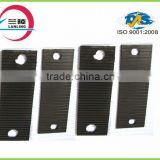 Grooved Turnout rail pad rubber plate under railway concrect sleeper /railway sleepers rubber/rubber pad under rail sleeper