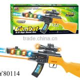 2014 Hot sale plastic battery operated gun with light and music ,flash B/O gun for Children