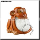 unpainted ceramic monkey kitchen holder