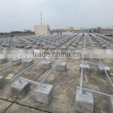 Normal Specification and Commercial Application Concrete flate Roof pv solar mounting Racking solar power system