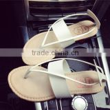 summer open-toed clip toe beach sandals female student flat Roman sandals