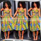 Wholesale Factory Price Women Traditional Print Dashiki African Dress Patterms fashion wax fabric designs dress