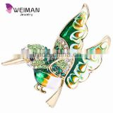 Weiman Decoration fantastic cute animal imitation jewelry fashion blue enamel bird brooch