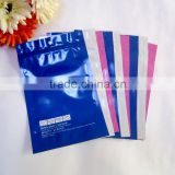 underwear clothing packaging zip lock mini/cute garment 2.5mil thickness plastic zipper bag with logo and hanger hole