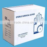 Sterile latex medical gloves powdered