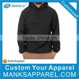 Custom Cheap Plain Windbreaker , Blank Windbreaker Jacket , Men Pullover Black Windbreaker