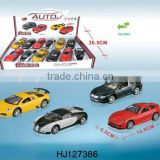 metal auto with light and sound, 1:36 pull back alloy flashing car model toy 12pcs/box
