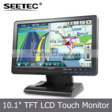 10.1 inch hdmi video audio input wide screen standalone car application cctv display