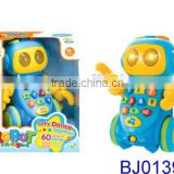 Cartoon robot B/O electric dancing robot story teller with music