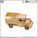 high quality educational toys for kids/natural pine wooden small car/small toy manufacturer in china