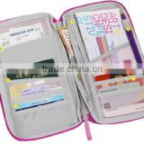 Women's Travel Pouch Organizer Key Credit Card Passport Holder