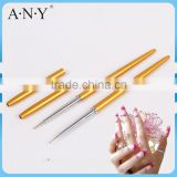 ANY Nail Art UV Gel Beauty Care Metal Handle Single Head Nail Dotting Tool Designs Pen with Cap