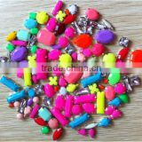 rainbow color neckcandy jewelry making craft fitting diy summer ss15 metal claw base