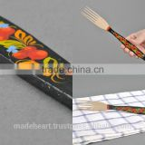 Wooden fork made of beech with painted handle