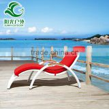 Most popular french style leisure outdoor garden beach sex chaise lounge chairs with cushion