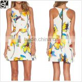 Dongguan woman sleeveless racer back summer short dresses for outings mini dresses