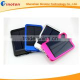 Wholesales Solar Power Bank 5000mAh for Mp3, solar panel Hot sale Charging Battery can sun and usb charing For phone