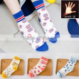 Bar dot triangle sweet lady cotton socks stylish socks ladies colored trouser socks