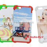 Bumper 3D Sublimation Phone Case for iphone 6 plus/2 in 1 case for iphone6/Bumper Blank sublimation phone cover for iphone6 plus