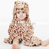Windproof Infant Blankets Pack Blankets With a Hood Cloak Blanket Animal Head Small Coral Fleece Wool Blanket