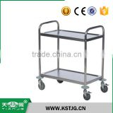 TJG stainless steel trolley hand cart platform lorry airport supermarket transportation customizable