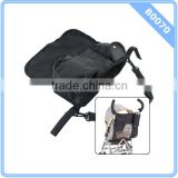 Baby Stroller Pram Pushchair Nylon Bag Diaper Storage Organizer Pouch Black