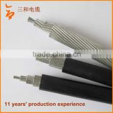 Professional Factory Supply!! High Purity xlpe insulated abc aerial bundle cable size with acsr conductor
