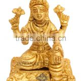 Indian Art Villa Handmade Brass Laxmi Ji Goddess Hinduism Religious Antique Art Decore Gift