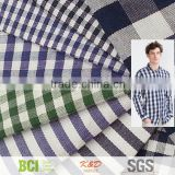 yarn dyed woven cotton gingham plaid check fabrics for shirts dress skirt cloth wholesale