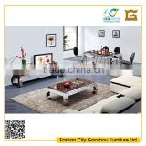 Modern marble top bent metal legs for living room furniture units coffee table/dining table/tv stand